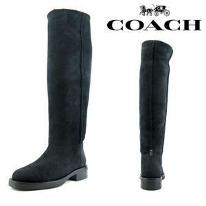 NWOT Coach Black Eliza Shearling Suede Boots